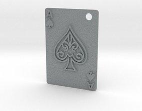 Ace of Spades Pendant 3D printable model