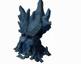 3D model Seabed Stone - Stone Skull 02