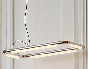 Pipeline CM4 LED Linear Suspension Light By Caine 3D model