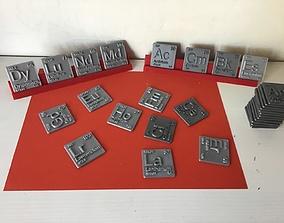 3D print model Periodic Table of Elements f-block 3