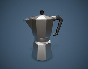 Moka Coffee Pot PBR Game Ready 3D asset