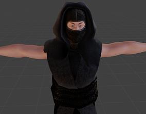 rigged Shinobi Ninja 3D Model