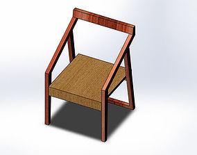 wooden arm chair 3D model