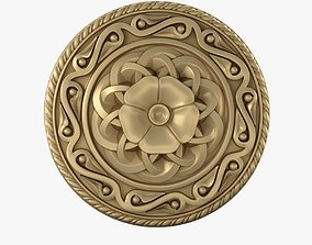 rosette ornament ortodox style 3D print model