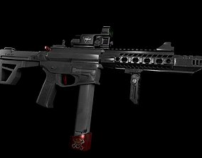 M4 carabine 3D model realtime