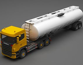 cargo-container 3D scania tanker