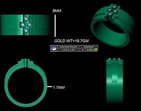 electronics diomand ring 3d model