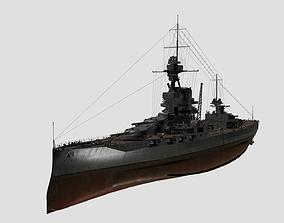 3D model HMS Iron Duke battleship