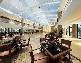 Business Restaurant - Coffee - Banquet 120 3D model