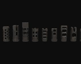 3D model Low Poly Compensator Attachment Pack 1