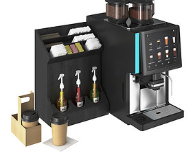 3D Vending Coffee Machine WMF 1500 S