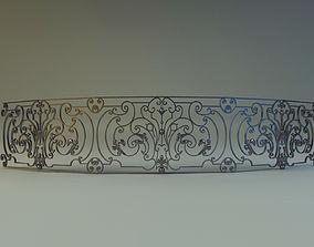 Forged railing 4 3D model