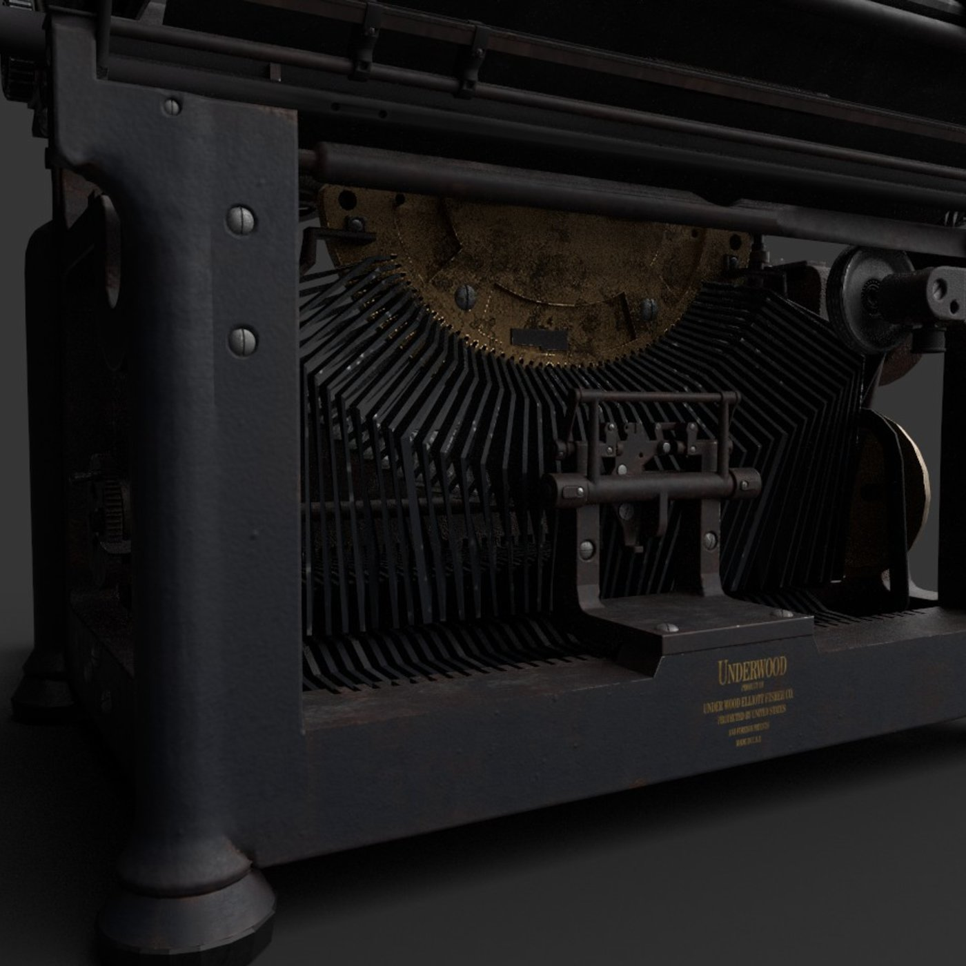 Antique Typewriter 3d modeling and Texturing