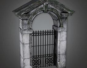 3D asset GFS - Outdoor Gate 17 - PBR Game Ready
