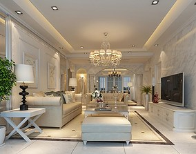 High Quality Living And Dining Room 05 3D