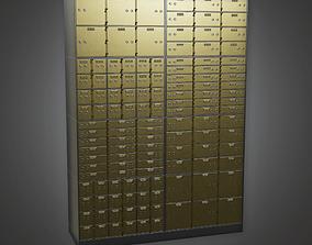 3D asset Metal Bank Deposit Box BHE - PBR Game Ready