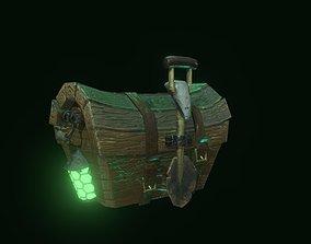 3D model Magic stylized locked chest with shovel