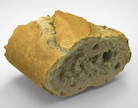 PIECE OF BREAD 3D asset