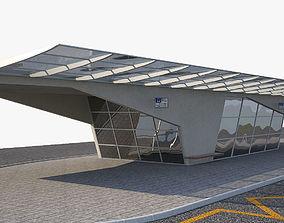 3D model Bus Station 1a