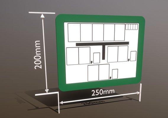 Hinweisschild Hydrant grün 200x250mm