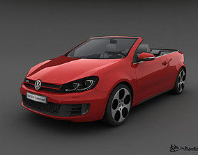 Volkswagen Golf GTI Cabriolet 2013 3D model