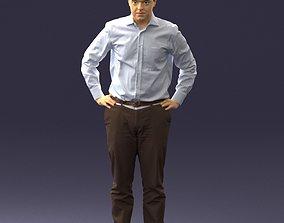 Man in white shirt 0005 3D print model