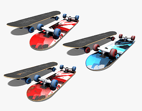 3D model realtime Skateboard equipment