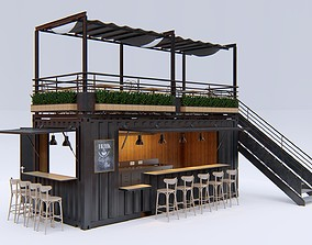 Container Cafe 2 3D model