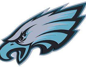 Philadelphia Eagles logo 3D model