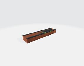 BOX RAMP skateboarding low poly for printing