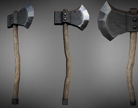 3D asset Woodcutters Axe 01