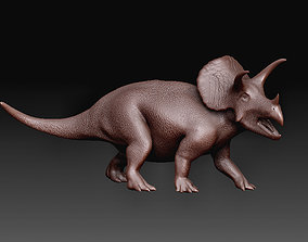 art 3D printable model Triceratops