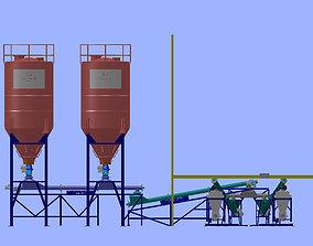 Pneumatic Conveyor For Sugar Feed 3D model