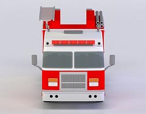 SPARTAN PUMPER, FIRETRUCK 3D MODEL realtime