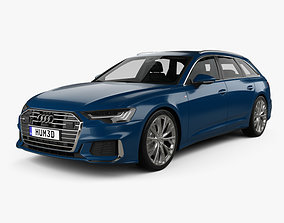 3D model Audi A6 S-Line avant with HQ interior 2018