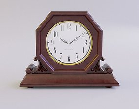 Fireplace Table Clock 3D model