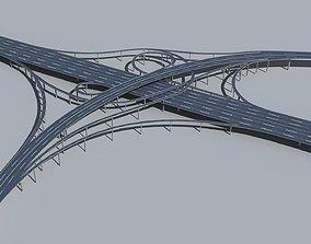 3D model Highway Viaduct flyover