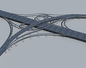3D model Highway Viaduct flyover