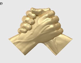 Handshake Relief Sculpture 3D printable model