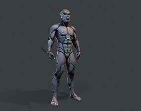 Cyber assassin 3D model