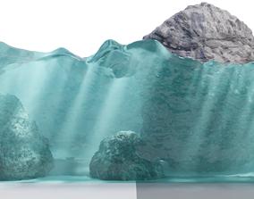 Realistic caustics material 3D asset