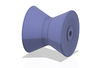 BOAT MARINE TRAILER 4 inch ROLLER STOP for 3d print and