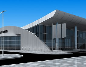 auto mall exterior and interior updated 3D