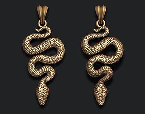snake pendant 3D printable model poisonous