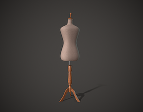 Dressmaker Mannequin Tailor Rehearsal Mannequin 3D asset