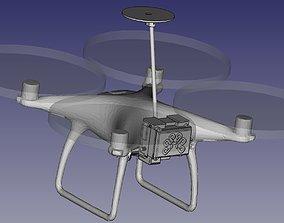 PPK RTK SUPORT KIT DJI Phantom 4 or P4 3D printable model