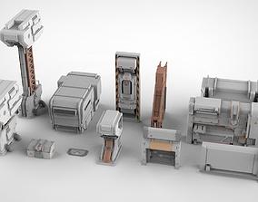 3D model sci-fi Architectural element 19