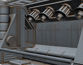Sci-fi Corridor section 3 3D