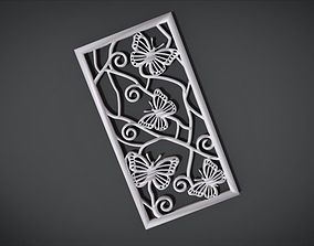 3D print model Window ventilation ornaments with Butterfly