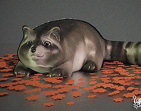 fat raccoon 3D model